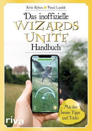 Das Cover des Handbuchs zeigt eine Hand mit Handy, beim Versuch einen Hippogreif zu retten.